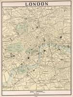 Vintage Map of London England (1901)