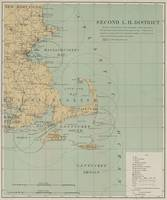 Vintage Massachusetts Lighthouse Map (1898)