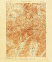 1892 15-minute map (or topographic sheet) of the M