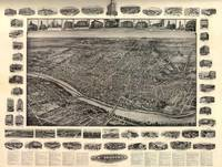 Vintage Pictorial Map of New Brunswick NJ (1910)