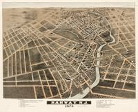 Vintage Pictorial Map of Rahway New Jersey (1874)