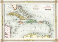 Vintage Map of The Caribbean (1846)