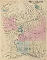 Vintage Map of Elizabeth New Jersey (1872)