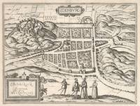 Vintage Map of Edinburgh Scotland (1581)