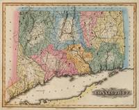 Vintage Map of Connecticut (1823)