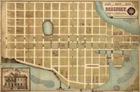 Vintage Map of Beaufort SC (1860s)