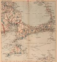 Vintage Map of Cape Cod MA (1905)