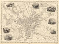 Vintage Map of Bradford England (1851)