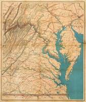 Vintage Map of Virginia and The Chesapeake Bay (18