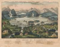 Vintage Lakes of Killarney Pictorial Map (1868)