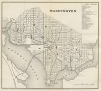 Vintage Map of Washington DC (1866)