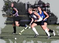 Girls Field Hockey Action