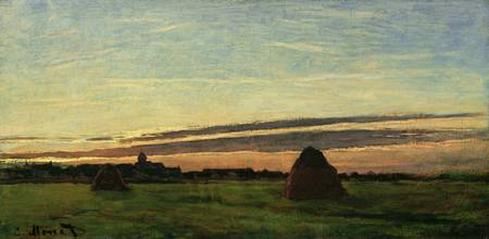 CLAUDE MONET - HAYSTACKS AT CHAILLY
