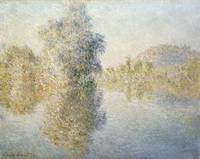 CLAUDE MONET - EARLY MORNING ON THE SEINE AT GIVER