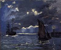CLAUDE MONET - A SEASCAPE, SHIPPING BY MOONLIGHT