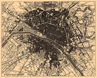 Vintage Map of Paris France (1907)