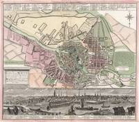 Vintage Map of Berlin Germany (1716)