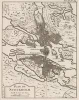Vintage Map of Stockholm Sweden (1764)