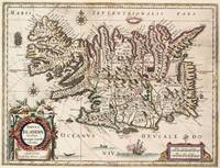 Vintage Map of Iceland (1684)