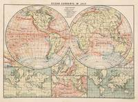 Vintage World Ocean Currents Map (1905)