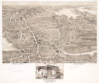 Vintage Pictorial Map of Weymouth MA (1880)