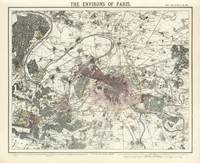 Vintage Map of Paris France (1883)