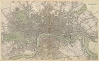 Vintage Map of London England (1843)