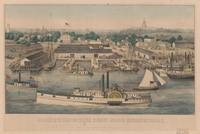 Vintage Pictorial Map of The 6th Street Wharf - Wa
