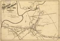 Vintage Battle of Concord Map (1875)