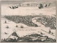 Vintage Pictorial Map of Constantinople (1696)