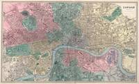Vintage Map of London England (1865)