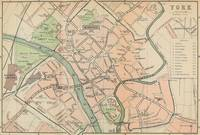 Vintage Map of York England (1890)