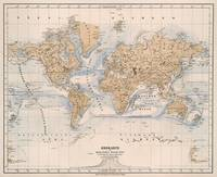 Vintage Map of The World (1884)