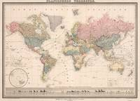 Vintage Map of The World (1852)
