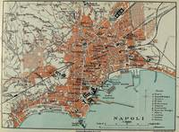Vintage Map of Naples Italy (1911)