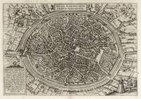 Vintage Map of Bruges Belgium (1612)