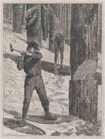 Vintage Illustration of a Lumberjack (1871)