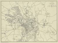 Vintage Map of Jerusalem Israel (1917)