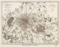 Vintage Map of Paris France (1805)