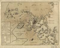 Vintage Boston Revolutionary War Map (1775)