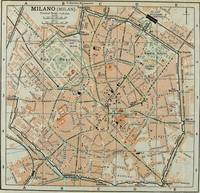 Vintage Map of Milan Italy (1911)