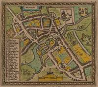 Vintage Map of Reading England (1611)
