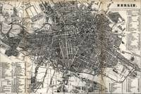Vintage Map of Berlin Germany (1870)