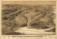 Vintage Pictorial Map of DC, Maryland & Northern V