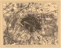 Vintage Map of Paris France (1907) 2