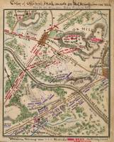 Vintage Map of The Battle of Chantilly (1865)