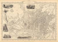 Vintage Map of Bristol England (1851)