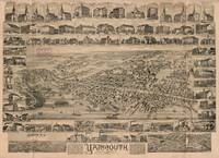 Vintage Pictorial Map of Yarmouth Nova Scotia (188