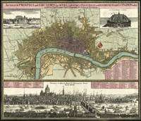 Vintage Map of London England (1740)