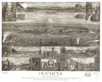 Vintage Pictorial Map of Olympia WA (1903)